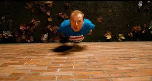 Run Fat Boy Run brick wall