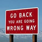 go back wrong way