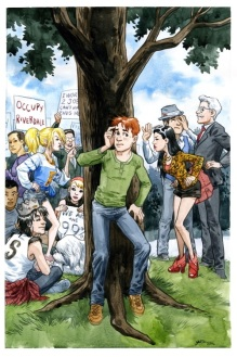 "Jill Thompson ""Occupy Riverdale"" cover."