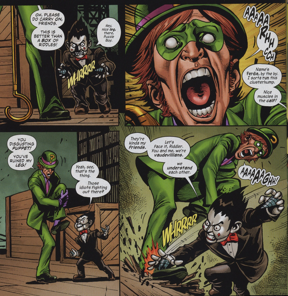 secret six 6 ferdie the riddler fight
